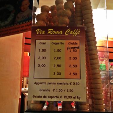 Caffè Via Roma, prezzi